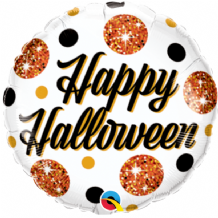 "Halloween Sparkly Dots Foil Balloon (9"" Air-Fill) 1pc"